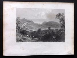 Finden Ports 1842 Antique Print. St. Bees College, Cumberland